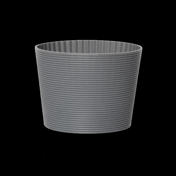 Silikonbanderole grau für Becher 0,30 l