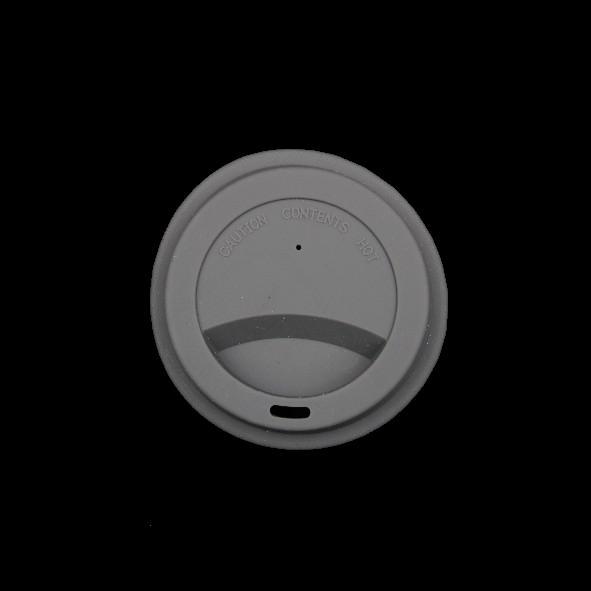 Silkondeckel grau für Becher 0,20 l
