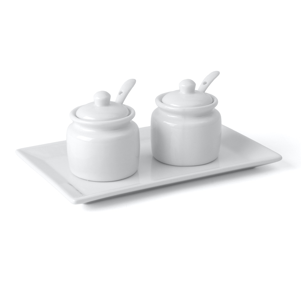 Saucen-, Dip- & Marmeladenbar 3-tlg. 20 x 13 cm