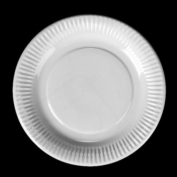 Plato de Porcelana plano 23 cm estilo de cartón
