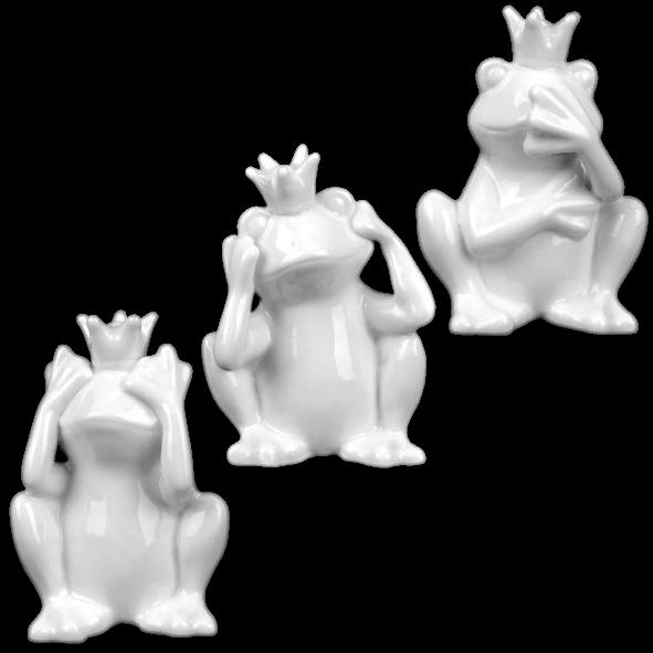"Porzellanfigur ""Froschkönig"" Set 3-tlg."