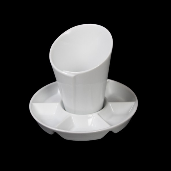 Pommes & Dip Bowl set  10 cm with saucer VA