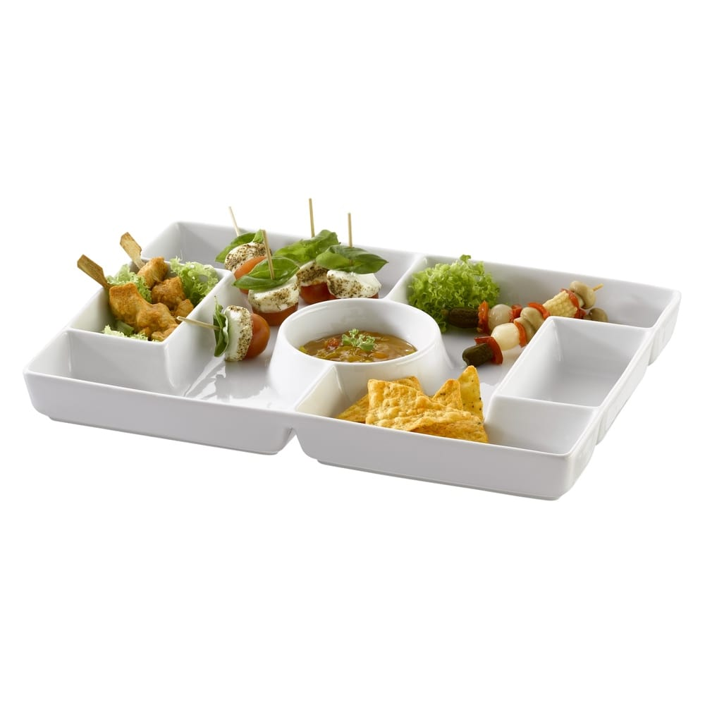 Assiette/Plateau football en porcelaine