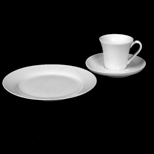 """Kaffeegedeck """"Maja"""" & """"Basic"""" 3-tlg."""