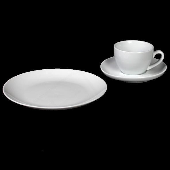 """Kaffeegedeck """"Classico"""" & """"Maxima"""" 3-tlg. rund"""