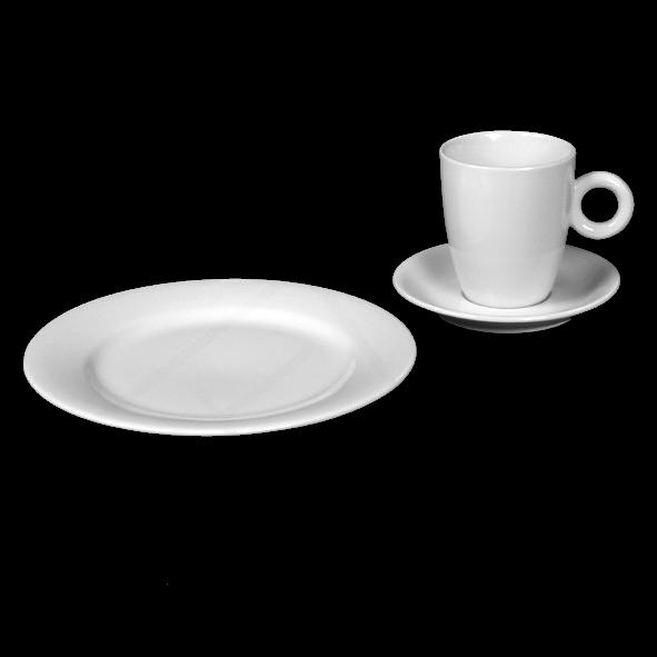 "Kaffeegedeck ""Rondo"" & ""Vital Level"" 3-tlg. (**)"