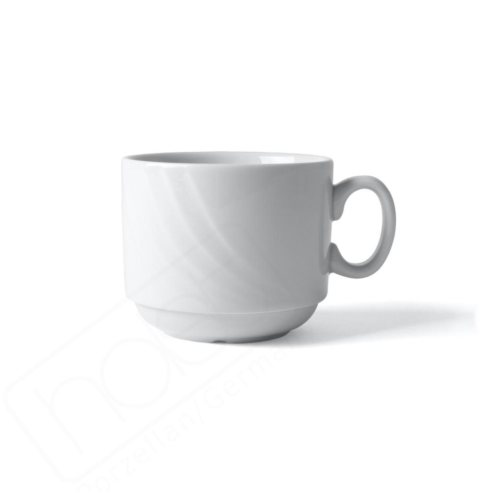 """Kaffeetasse 0,22 l stapelbar Reliefform """"Venice"""""""