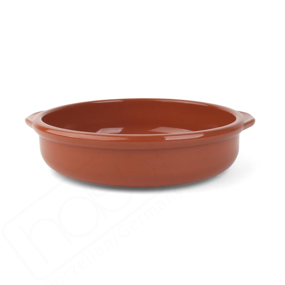 "Keramikschale 21 cm ""Mediterrano braun"" m. Laffe"