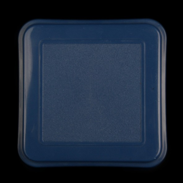 Schale quadratisch 15 cm m. Deckel blau