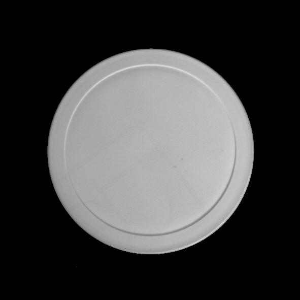 Kunststoffdeckel grau für Systemschale rund 0,37 l (**)