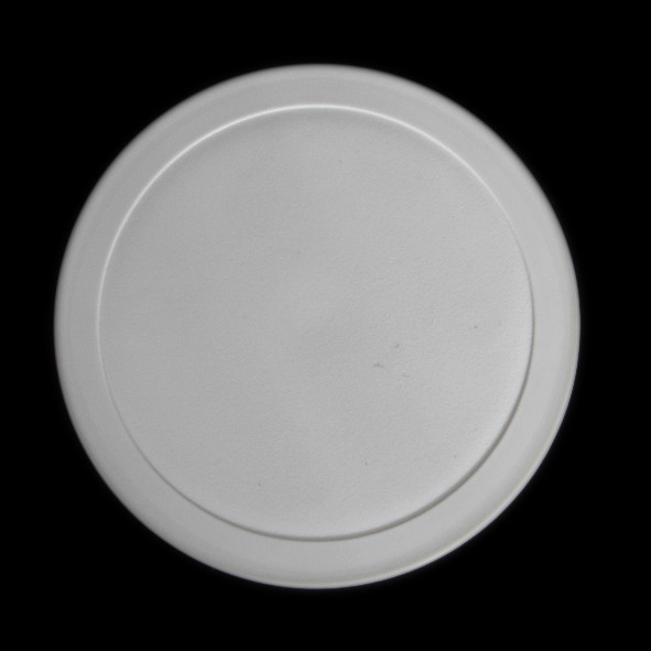 Kunststoffdeckel grau für Schale rund 0,45 l