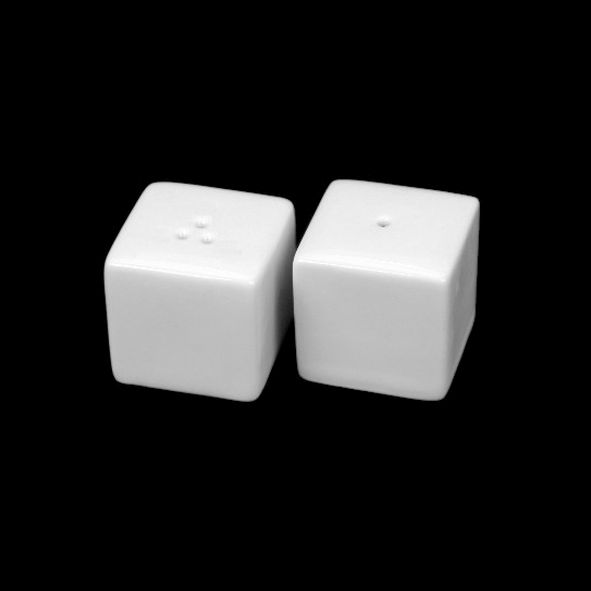 Salt cellar and pepper pot ''Cube''