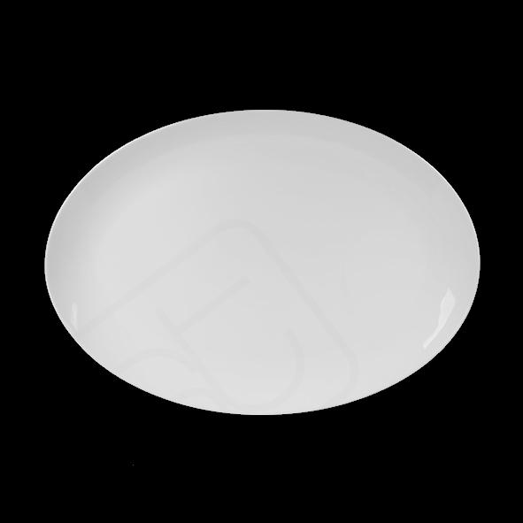 Burgerplatte oval 35 x 25 cm hoher Rand