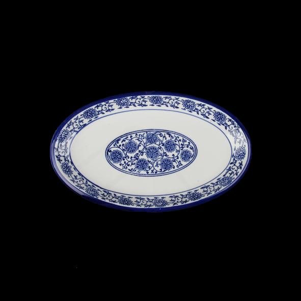 "Platte oval 26 x 16 cm ""Qing Hua Ci"" (**)"