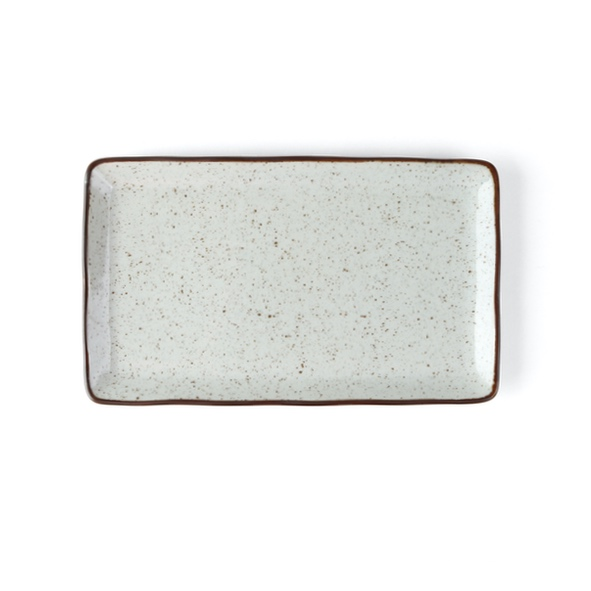 Plate 27 x 16 cm rectangular ''Re-Active Arena''