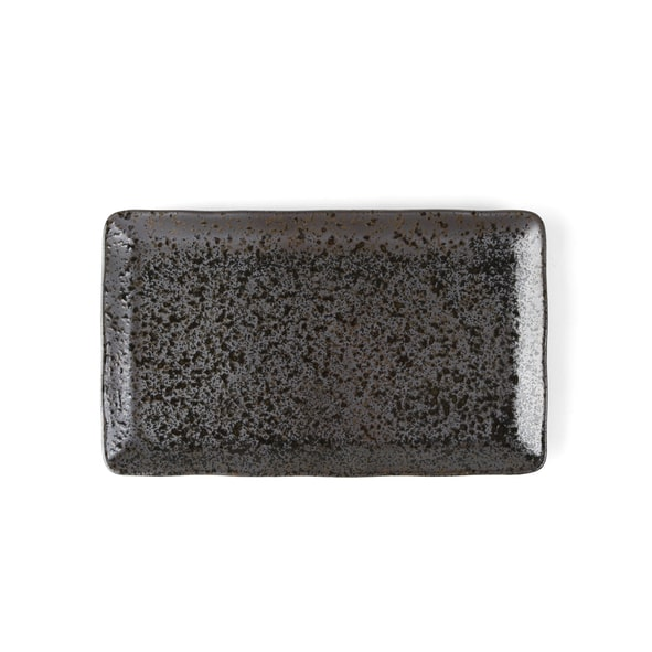 "Plate 27 x 16 cm rectangular ""Re-Active Carbon"""