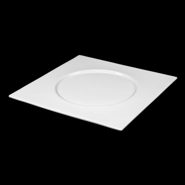 Square plate ''Rondo'' with large round mirror