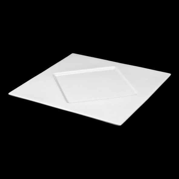 Square Plate w rhombus mirror - 2nd Choice (*)