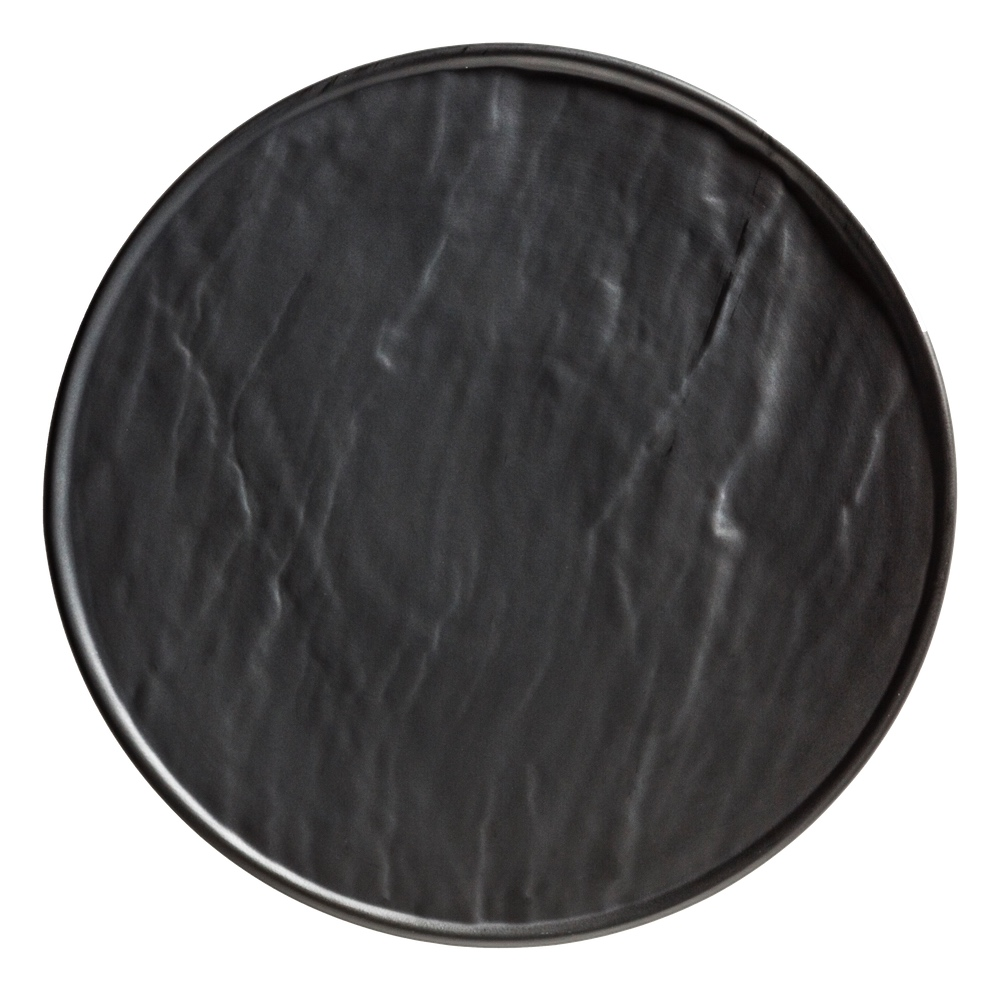 Porcelain Plate in slate design black 25 cm