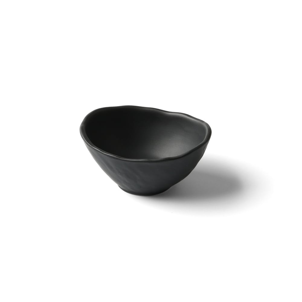 Porcelain bowl in slate design black 8 cm