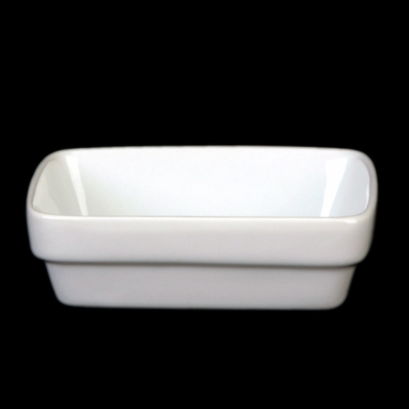 Rectangular dish for cosmetics 11x8 cm, stackable