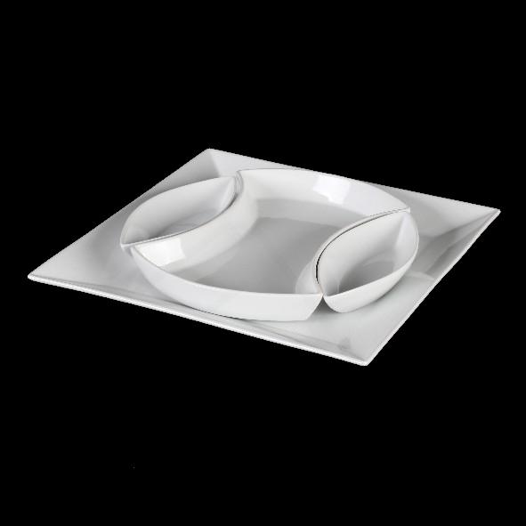 """Servierset """"Puzzle"""" Centerschale 4-tlg. 30 x 30 cm (**)"""