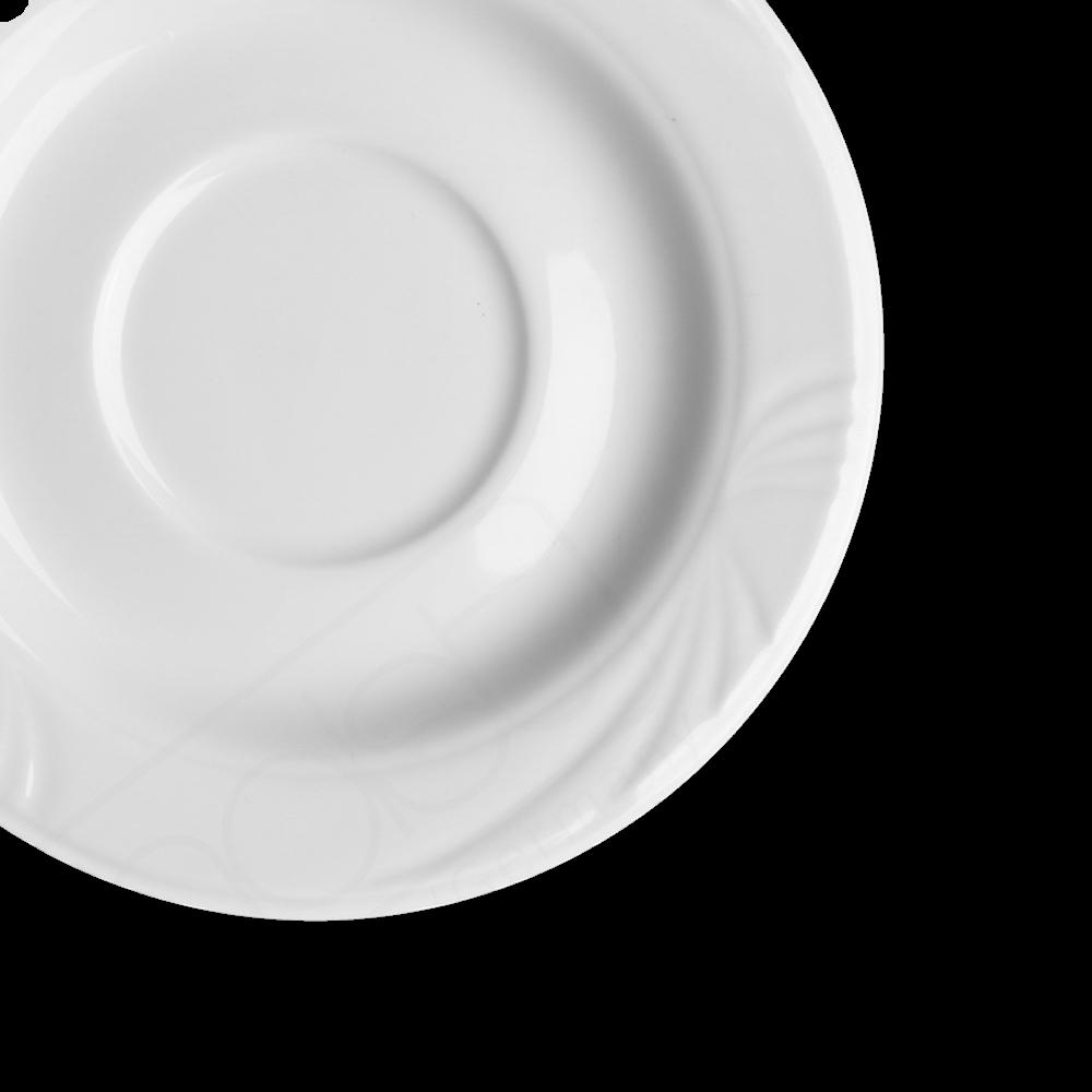 """Alumina Suppen Untertasse 16,5 cm Reliefform """"Lubin"""", Spiegel 6,0 cm"""