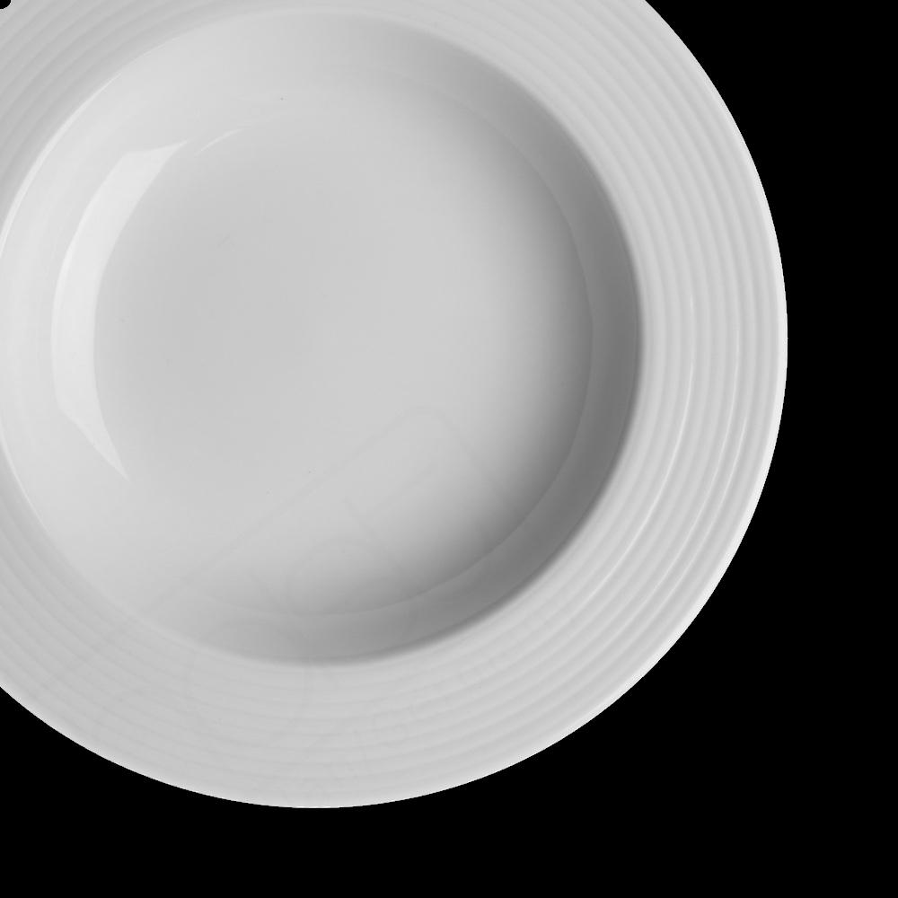 """Alumina Teller tief 23 cm Reliefform """"Paris"""""""