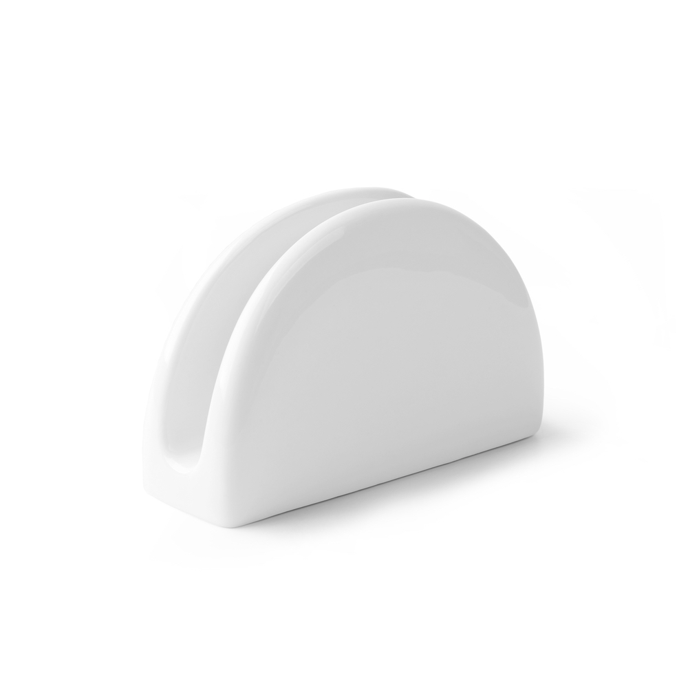 Servilletero de Porcelana blanca 13 cm - 2a Calidad