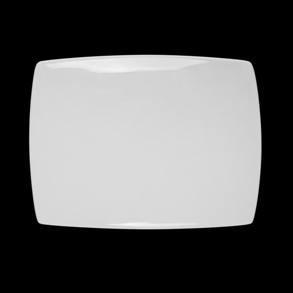 Rectangular plate 25 x 19 cm '' Fine Dining'' (**)