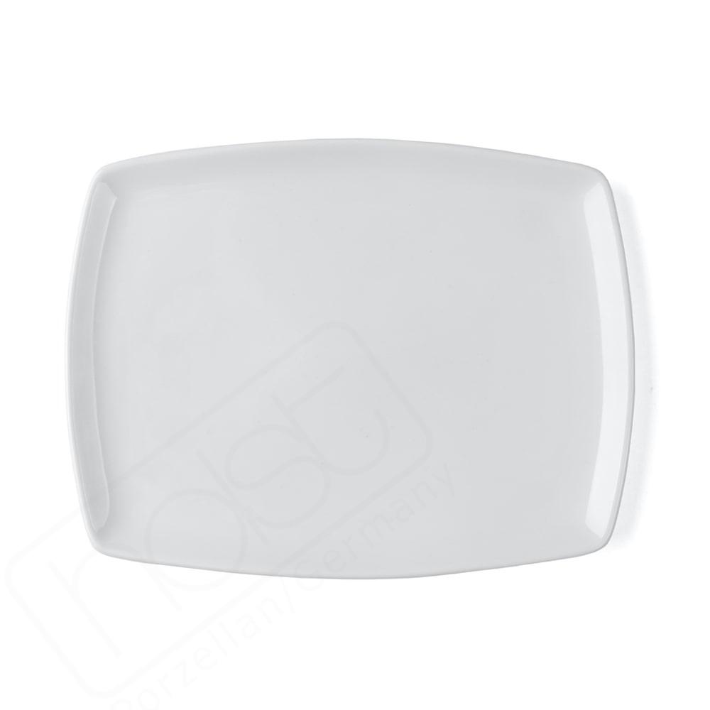 """Plato de Porcelana Superduro plano  31 x 24 cm """"Fine Dining"""""""