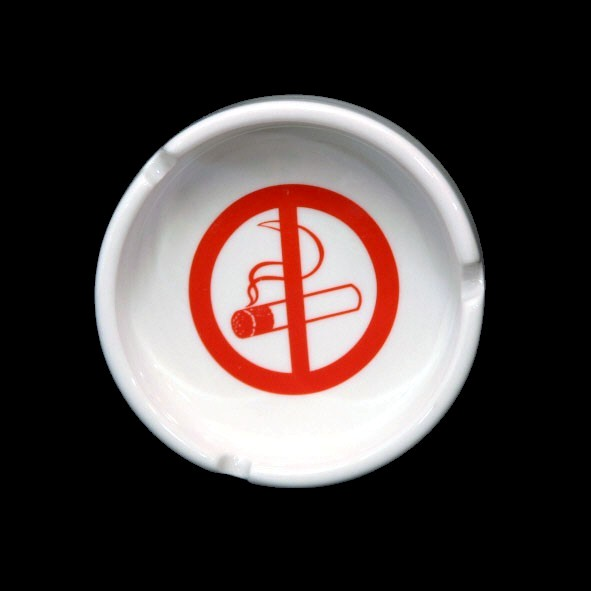 Round ashtray 7,5 cm ''non-smoking'' stackable