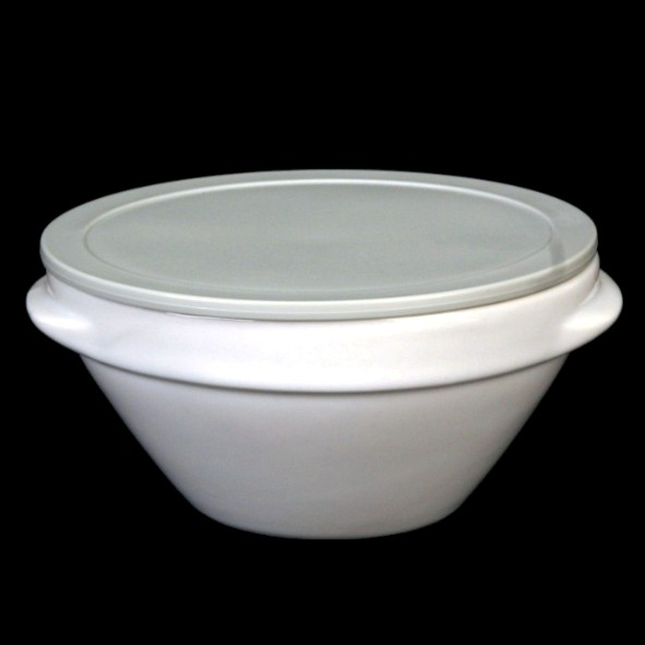 Bowl for soup & stew with lid grey