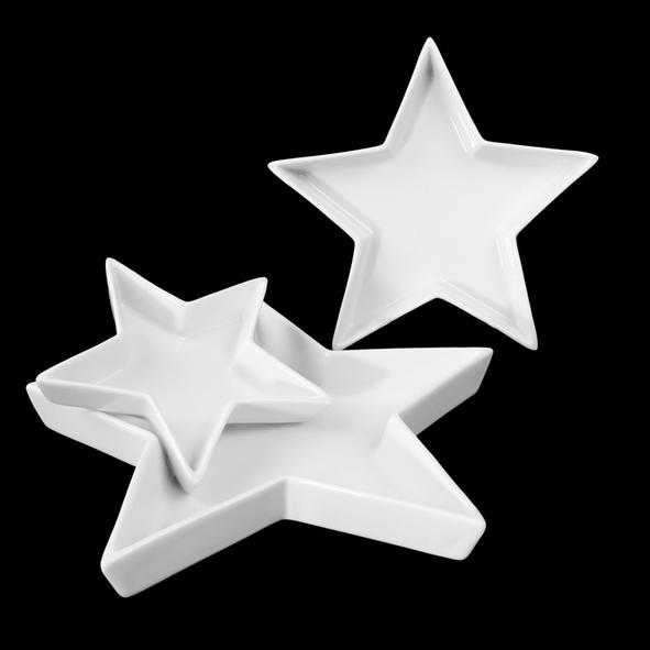 Star shaped dish 3-pcs. (**)