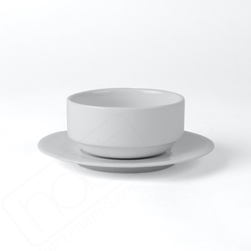 High Alumina Schalenset 0,3 l / 11 cm mit Deckel Untere