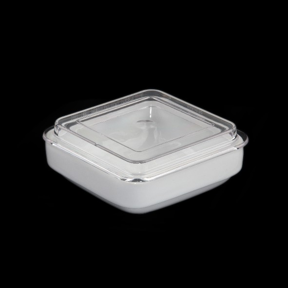 Square bowl 15 cm with cover