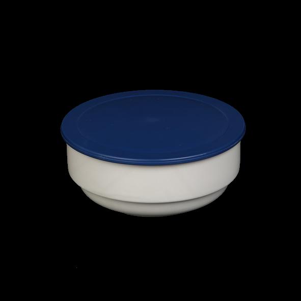 Schale Bowl rund 12 cm m. Deckel blau
