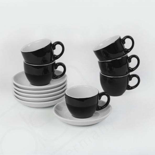 "Espressotassen Set 12-tlg. ""Palermo"" black & white"
