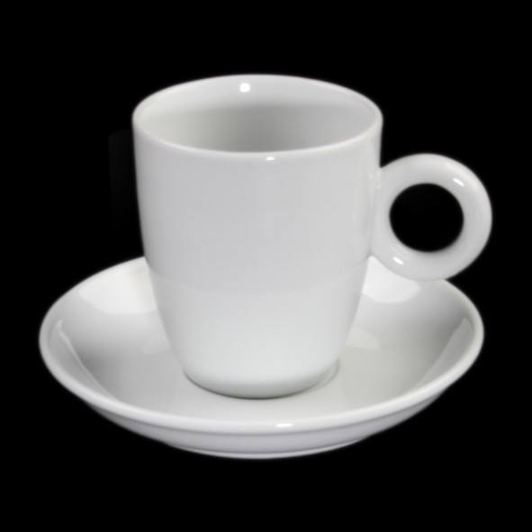 White coffee cup ''Rondo'' 0,38 l with saucer UTP
