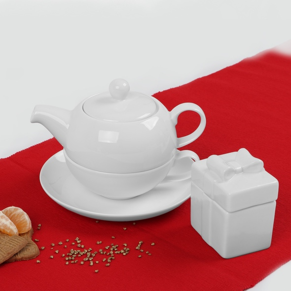 "Teeservice ""Tea for One"" mit Keksdose"