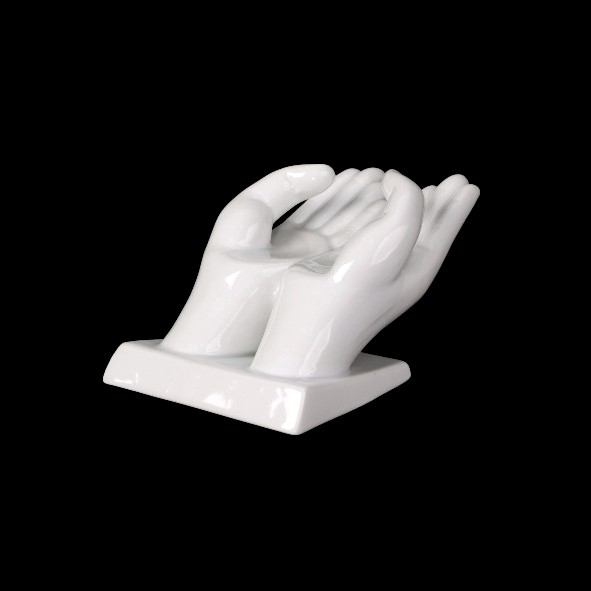 Business card holder ''Hands''