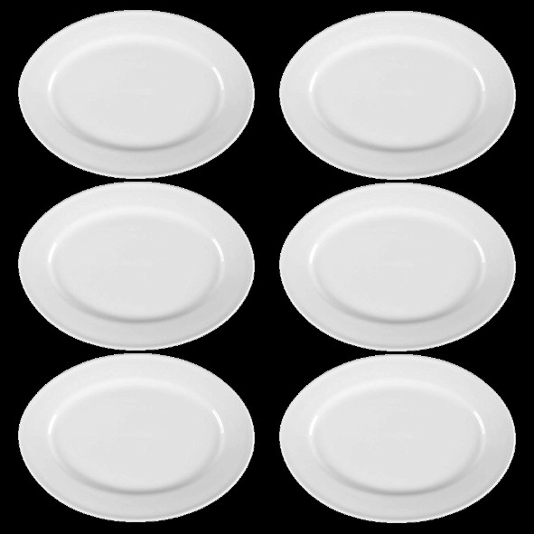Special offer set 6 pcs.of plates f. starters (**)