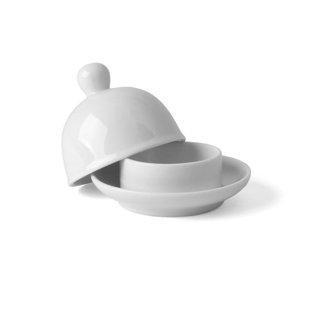 "Butter dish with lid ""Knob"""