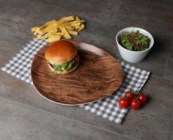 Burgerteller rund 28 cm Nature