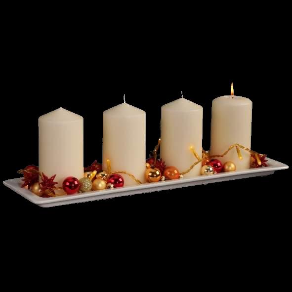 Adventlichter Fensterplatte 53 cm