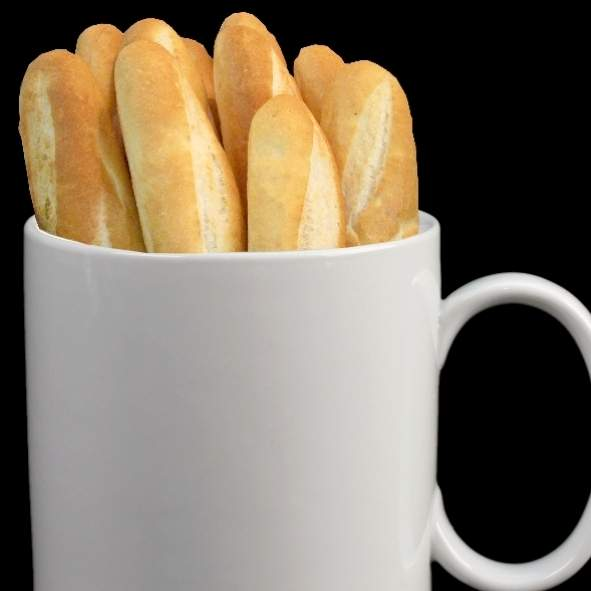 Jumbo mug for bred and baguette 30 cm