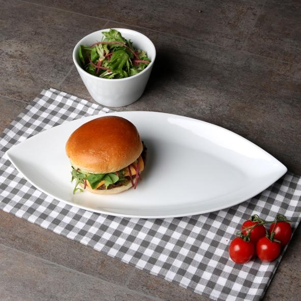 "Burgerplatte oval 40 x 20 cm ""Bateau"""