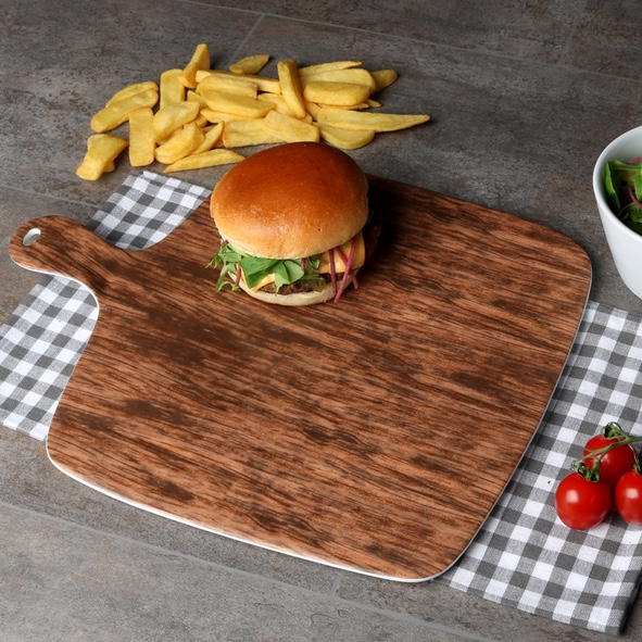 Burger plate 38 x 31 cm ''Wood Design''