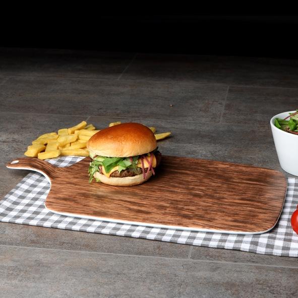 Burgerplatte 42 x 23 cm Brettchen Nature