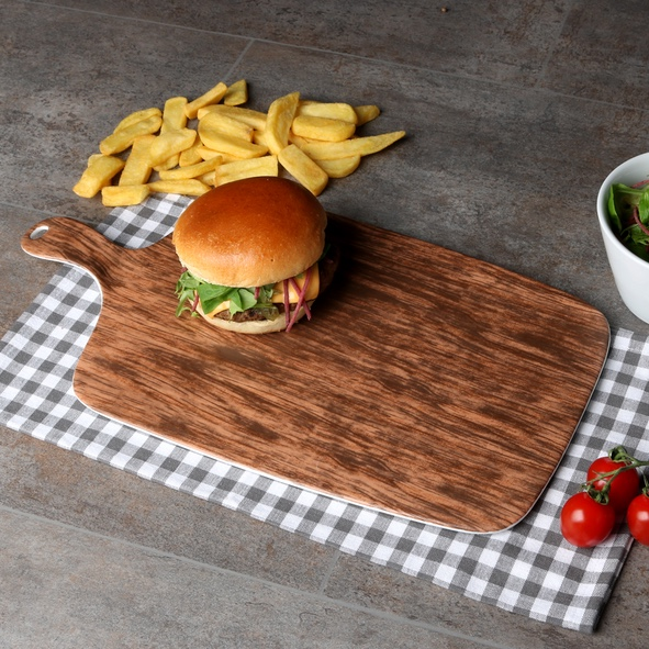 Burger plate 42 x 23 cm ''Wood Design''